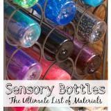 Linked to: lemonlimeadventures.com/sensory-bottles-free-printable-materials-list/