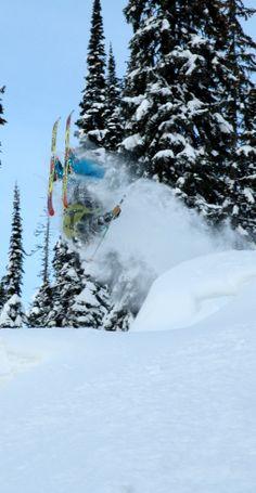 Freeriding - heli skiing with CMH Heli Skiing at their K2 Rotor Lodge