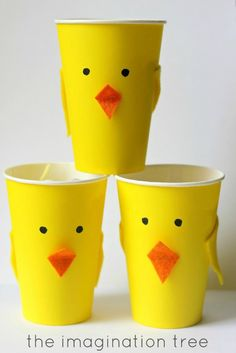 Turn Solo cups into cute little chicks!