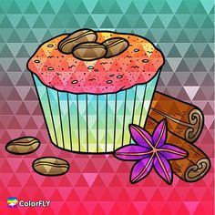 Some #sweet #cinnamon #cupcake for the #longweekend  ----------------- Let more people see your masterpiece   Tag/DM me or #colorfly #colorflyapp #colorflyart to spread your art. ----------------- #freeapp #coloringapp #adultcoloringapp #coloring #coloringbook #coloringbookforadults #coloringpages#coloringtime #adultcoloring #stressfree #stressrelief #colorfy #colorfyapp #picoftheday #recolor #fun #colortherapyapp #art #love #塗り絵 #ぬりえ #painting #cute