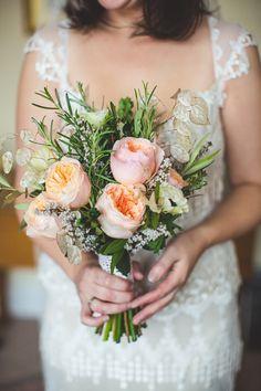 Kristene by Claire Pettibone and Maids in Emerald Green | Love My Dress® UK Wedding Blog