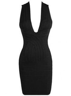 Sexy V Backless Bandage Dress Black H440H @missdivaone1 @divadomestic @hyacinthia99 @lokuehnel @lizzie2829 @LuxyA