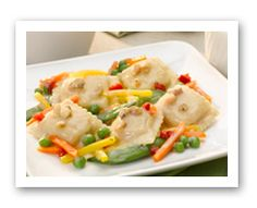 Click for Larger View: Ravioli w/Fruit Salad. Fruits And Veggies More Matters.org