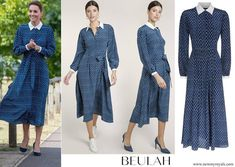 Duchess Kate, Duke And Duchess, Duchess Of Cambridge, Floral Shirt Dress, Floral Print Shirt, Crown Princess Mary, Princess Kate, Beulah London, Celebrity Style
