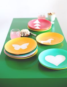 Painted decal plates