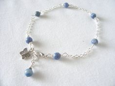 Fall sale! Pretty blue sodalite anklet ooak by sydemcgus only $7.99