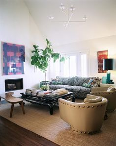 Abby M. Interiors: a patterned sofa: compel or repel