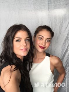 Marie Avgeropoulos and Lindsey Morgan || The 100 cast || Octaven || Octavia Blake and Raven Reyes