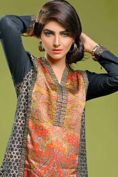 Product code: VRV-0808-LD  JUST TOP ON DIGITAL PRINTED SILK  Shop Online www.nimsay.pk