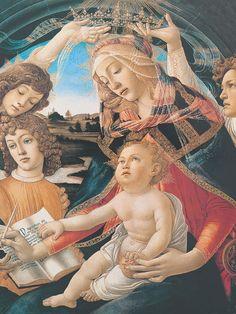 Titolo: Madonna del Magnificat  - Botticelli Sandro (1445-1510) - STAMPA SU TELA € 18,26
