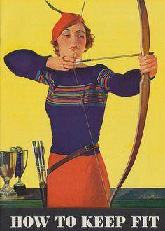 Vintage archery poster