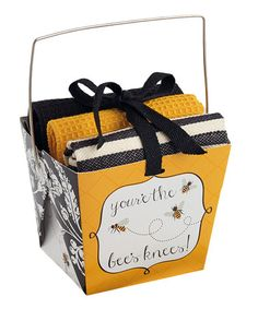 Another great find on #zulily! Bee Knees Dishcloth Gift Set by Design Imports #zulilyfinds