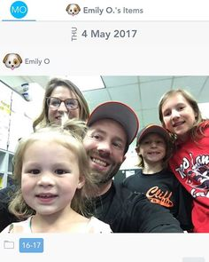 Family selfie fun at the iPad station at Open House last night!!