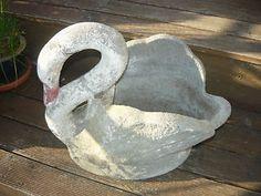Retro Vintage Concrete Swan Statue Planter in VIC | eBay