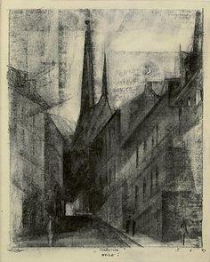 Lyonel Feininger, Stadtkirche, Weimar I