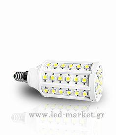 Αν ενδιαφέρεστε για αυτό το προϊόν επικοινωνήστε μαζί μας Λαμπτήρας+LED++E14+60+SMD+9+Watt+Corn+Ψυχρό+Λευκό Led
