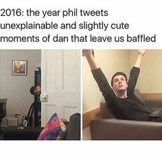 Dan and Phil Amazingphil Danisnotonfire phan phandom tumblr