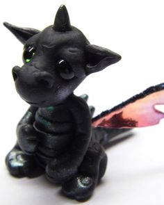 Ooak Handmade Polymer Clay Tiny Baby Dragon by Woodlandkreatures, $30.00