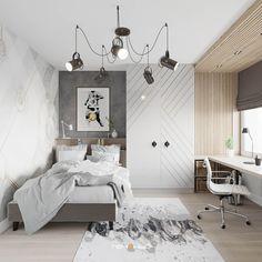 Kids Room Design, Home Office Design, Home Interior Design, Interior Architecture, Home Study Rooms, Living Room Tv Unit Designs, Boys Bedroom Furniture, Teenage Room, Girl Bedroom Designs