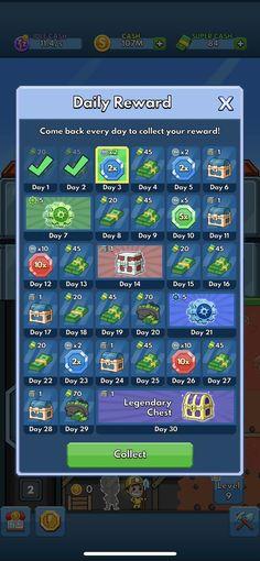 Game GUI Daily Bonus Rewards #game #gui #daily #bonus #rewards Daily Rewards, Game Gui, Comebacks, Games, Day, Gaming, Plays, Game, Toys