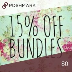 Bundle Discount Bundle 3 or more items for a 15% OFF discount.  For even deeper savings, bundle already clearance priced summer items! Other