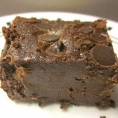"Mrs.Field's Super Fudge Brownies - Pinner says: ""They are dense, rich, and almost melt in your mouth. They remind me of a flourless chocolate cake with a truffle-like texture and deep, dark chocolate taste."""