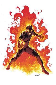 Human Torch- A Closer Look At The All-New, All-Different Marvel Characters Post Secret Wars| Comicbook.com Artist- David Marquez, Colourist- Matt Wilson