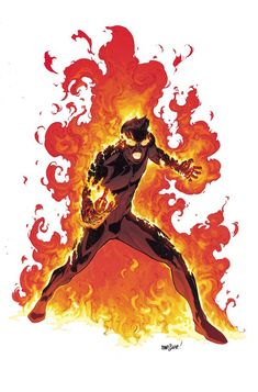 Human Torch- A Closer Look At The All-New, All-Different Marvel Characters Post Secret Wars| Comicbook.com Artist- David Marquez, Colourist- Matt Wilson