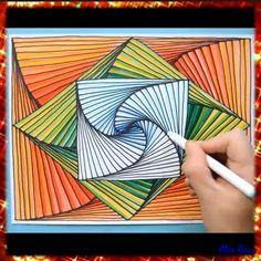 3d Art Drawing, Art Drawings Sketches Simple, Cool Art Drawings, Pencil Art Drawings, Abstract Drawings, Painting & Drawing, Drawings With Sharpies, Pencil Art Love, Drawing Ideas