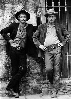 """Robert Redford and Paul Newman in """"Butch Cassidy and the Sundance Kid"""". I saw this movie as a young girl and never could decide which man was more gorgeous. (Still can't!)"""
