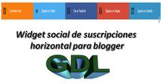Widget social de suscripciones horizontal para blogger « Widgets y Plugins para Blogger