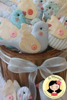 sweet fabric birds