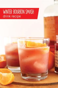 We love the idea of serving up a refreshing cocktail for your Christmas party. This Winter Bourbon Smash drink recipe features hints of raspberry and orange flavor. You can be sure your holiday guests will enjoy every sip of this sweet creation.