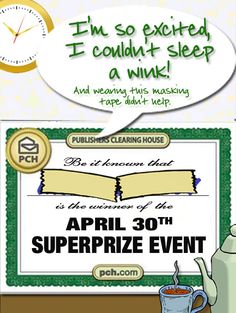 """""""Lucky"""" The PCH Big Check will make someone a Millionaire tomorrow! 