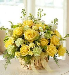 Dekorace * žluté růže
