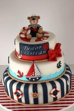 marine theme cake