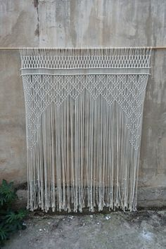 Macame curtain wedding decor Large macrame wall hanging macrame headboard Home Decor tapestry home decor boho wall art Wedding decor Decoration Hall, Decoration Christmas, Decoration Bedroom, Backdrop Decor, Wall Decor, Decor Room, Macrame Curtain, Curtain Hanging, Large Macrame Wall Hanging