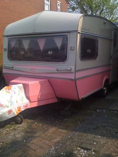 The owners repainted this camper using only foam rollers and quality exterior paint. Good job guys!