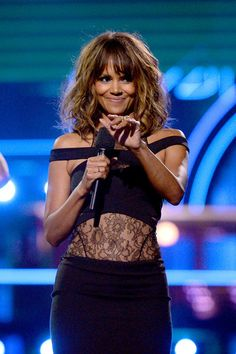 Halle Berry speaks at the 2016 MTV Movie Awards.