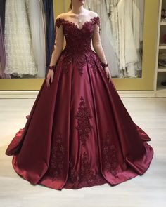 Wedding Dress Types, Red Wedding Dresses, Royal Dresses, Quince Dresses, Prom Dresses, Elegant Dresses, Beautiful Dresses, Pretty Quinceanera Dresses, Ball Gowns