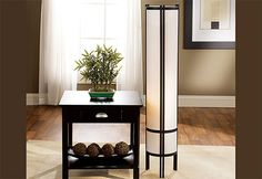 Japanese-Style Floor Lamp for warm accent lighting, Asian-inspired lamps make the perfect addition to contemporary décor.