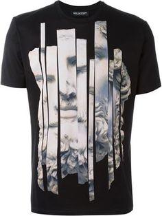 camiseta con estampado de estatua Camisetas Hombre Estampadas 3d11d0f8509ec