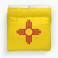 """""""New Mexico Patriotic State Flag"""" Duvet Covers by ArgosDesigns 