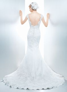 FLORA - Wedding Gown / 2013 Collection - by Matthew Christopher - Available colours : White & Off White (back)