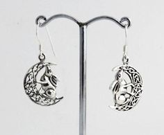 Silver-Moon-Gazing-Hare-Earrings-Lisa-Parker-Sterling-925-Licensed-Product-gift