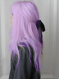 Pastel Colored Ombre Hairstyles and Hair Colors - flat layered hair magenta color . Pastel Renkli Ombre Saç Modelleri ve Saç Renkleri - düz katlı saç eflatun r. Pastel Colored Ombre Hairstyles and Hair Colors - flat layered hair purple colored Pastel Purple Hair, Lilac Hair, Hair Color Purple, Colorful Hair, Lavender Colour, Lavender Ideas, Light Purple Hair Dye, Pastel Goth Hair, Long Purple Hair