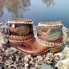 Upcycled Vintage Cowboy Boho Boots- Endless Summer on Etsy, $160.00