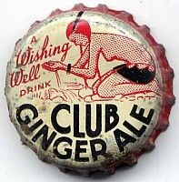 A Wishing Well Drink Club Ginger Ale, soda bottle cap | London, Ontario, Canada