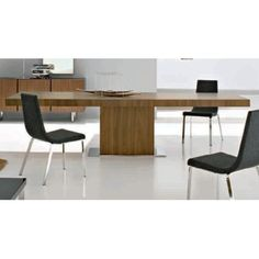 Calligaris Wood Park Extension Single Pedestal Table