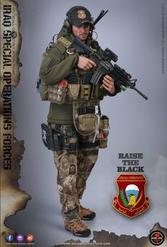 "SoldierStory SS107 1/6th scale Iraq Special Operations Forces ""ISOF"" - SAW GUNNER action figure features: HEAD SCULPT - Modern ISOF life-lik..."